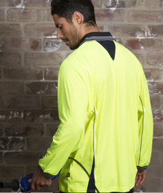 'Aussie Kings' Mens Hi-Vis Ironhide Long Sleeve Polo