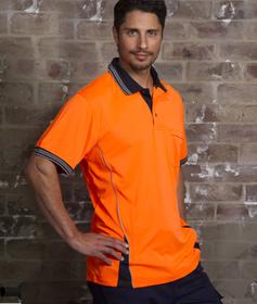 'Aussie Kings' Mens Hi-Vis Ironhide Short Sleeve Polo