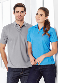'Biz Collection' Ladies Micro Waffle Polo