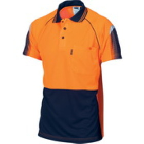 'DNC' HiVis Cool-Breathe Short Sleeve Sublimated Piping Polo