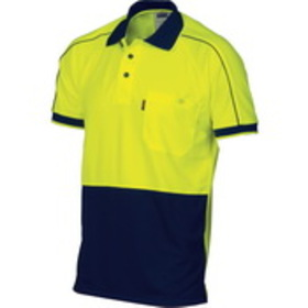 'DNC' HiVis Cool-Breathe Short Sleeve Double Piping Polo