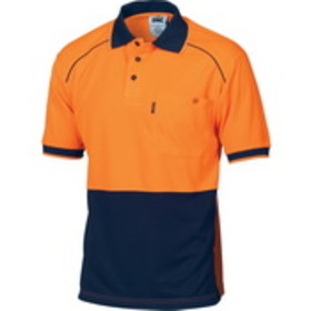 'DNC' HiVis Cool-Breathe Short Sleeve Front Piping Polo