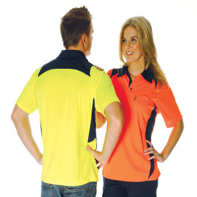 'DNC' HiVis Cool Breeze Short Sleeve Action Polo