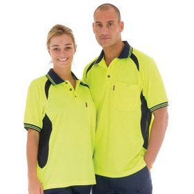 'DNC' HiVis Cool Breeze Short Sleeve Contrast Mesh Polo