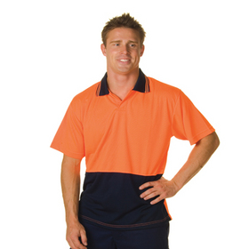 'DNC' HiVis Short Sleeve Two Tone Food Industry Polo