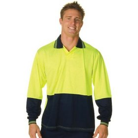 'DNC' HiVis Long Sleeve Two Tone Food Industry Polo
