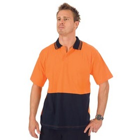 'DNC' Hi Vis Cool Breeze Short Sleeve Cotton Jersey Food Industry Polo