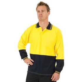 'DNC' Hi Vis Cool Breeze Long Sleeve Cotton Jersey Food Industry Polo
