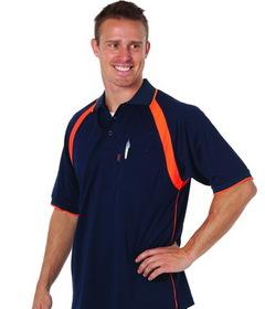 'DNC' Coolbreathe Short Sleeve Contrast Polo