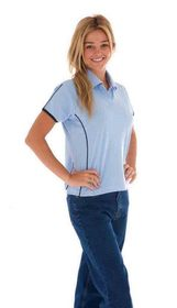 'DNC' Ladies Cool-Breathe Piping Polo