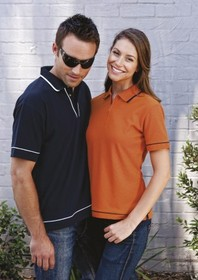 'Gear for Life' Ladies Waffle Zip Polo