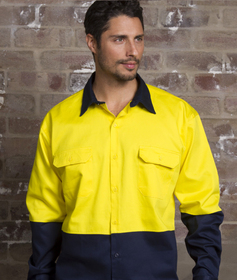 'Aussie Kings' Hi-Vis Optimus Cotton Drill Long Sleeve Shirt