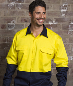 'Aussie Kings' Hi-Vis Koolsmart Long Sleeve Cotton Shirt