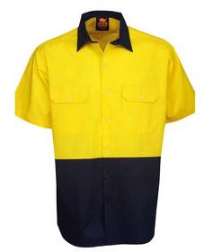 'Aussie Kings' Hi-Vis Koolsmart Short Sleeve Cotton Shirt