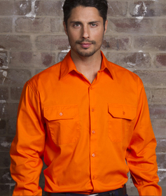 'Aussie Kings' Hi-Vis Newport Kool Smart Long Sleeve Shirt