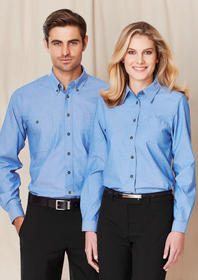 'Biz Collection' Ladies Wrinkle Free Chambray Long Sleeve Shirt