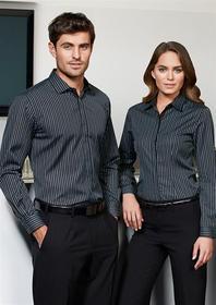 'Biz Collection' Ladies Long Sleeve Reno Stripe Shirt