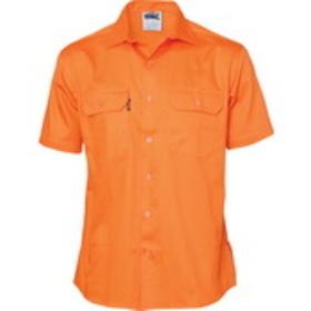 'DNC' Short Sleeve Cotton Drill Work Shirt