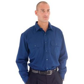 'DNC'  Polyester Cotton Long Sleeve Work Shirt
