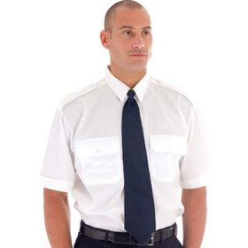 'DNC'  Epaulette Polyester Cotton Short Sleeve Work Shirt