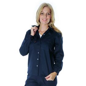 'DNC' Ladies Long Sleeve Cotton Drill Work Shirt