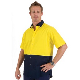 'DNC' Hi Vis Cool Breeze Short Sleeve Food Industry Cotton Shirt