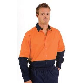 'DNC' Hi Vis Cool Breeze Long Sleeve Food Industry Cotton Shirt