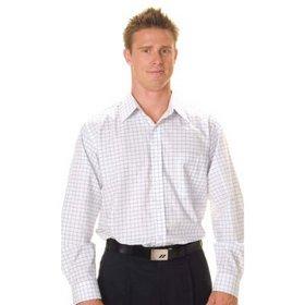 'DNC' Mens Yarn Dyed Long Sleeve Check Shirt