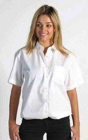 'DNC' Ladies Polyester Cotton Poplin Short Sleeve Shirt