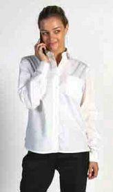 'DNC' Ladies Polyester Cotton Poplin Long Sleeve Shirt