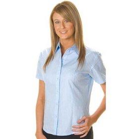 'DNC' Ladies Short Sleeve Tonal Stripe Shirt