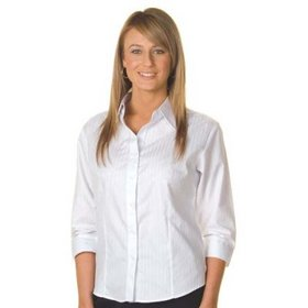 'DNC' Ladies ¾ Sleeve Tonal Stripe Shirt
