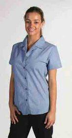 'DNC' Ladies Short Sleeve Classic Mini (Check) Houndstooth Business Shirt