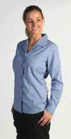 'DNC' Ladies Long Sleeve Classic Mini (Check) Houndstooth Business Shirt