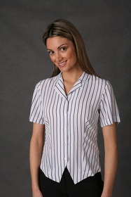 ** CLEARANCE ITEM ** 'LSJ' Freedom Stripe Ladies Shirt