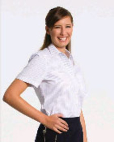 ** CLEARANCE ITEM ** - 'Totally Corporate' Ladies Short Sleeve Blouse