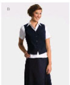 ** CLEARANCE ITEM ** - 'Totally Corporate' Ladies Semi-Fitted Short Sleeve Blouse