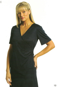 ** CLEARANCE ITEM ** - 'Totally Corporate' Ladies Angled Wrap Knit Top