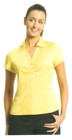 ** CLEARANCE ITEM ** - 'Totally Corporate' Ladies Collared Knit Top