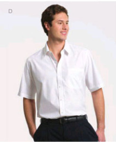 ** CLEARANCE ITEM ** 'Totally Corporate' Men's Regular Collar Short Sleeve Shirt