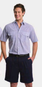 ** CLEARANCE ITEM ** 'Totally Corporate' Men's Double Pocket Short Sleeve Shirt