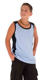 'DNC' Kids Cool-Breathe Contrast Singlet