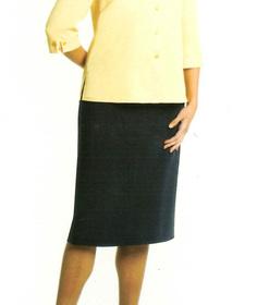 ** CLEARANCE ITEM ** - 'Totally Corporate'  Ladies Elastic Waist Microfibre Skirt