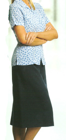 ** CLEARANCE ITEM ** - 'Totally Corporate'  Ladies Elastic Waist Mechanical Stretch Skirt