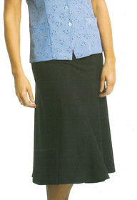 ** CLEARANCE ITEM ** - 'Totally Corporate'  Ladies Elastic Waist Flared Skirt