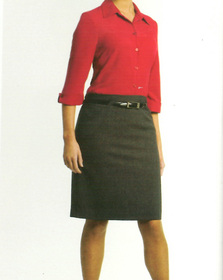 ** CLEARANCE ITEM ** - 'Totally Corporate'  Ladies Curve Skirt