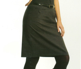 ** CLEARANCE ITEM ** - 'Totally Corporate'  Ladies Skirt with Tab Detail