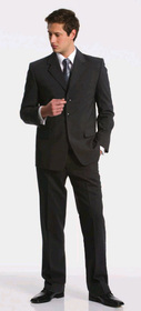 ** CLEARANCE ITEM ** - 'Totally Corporate' Mens Polyester Wool Lycra Suit