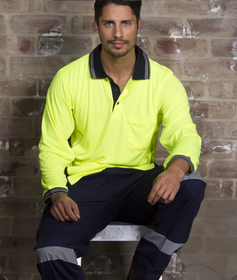 'Aussie Kings' Cotton Drill Cargo Trousers with Reflective Tape