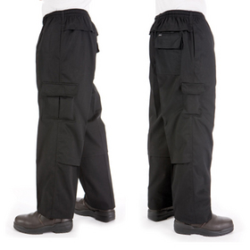 'DNC' Drawstring Poly Cotton Cargo Pants
